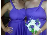 Bridesmaid dresses Cadbury purple
