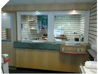 Post Office Counter With Side Door