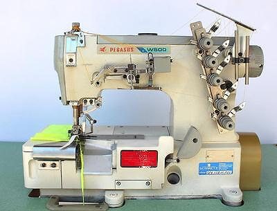 PEGASUS W562 Elastic Attaching Coverstitch 3-Needle Industrial Sewing Machine