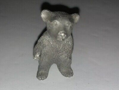 "PEWTER BEAR STANDING UP 1.5"" Excellent Condition - Bear Standing Up"