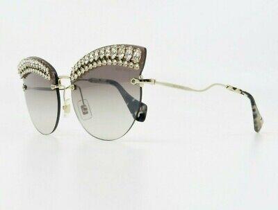 MIU MIU Women's Rimless Brown Crystals Sunglasses w/ Box SMU 58T E93-5O0 (Glasses Miu Miu)