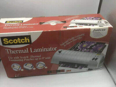 New Scotch Thermal Laminator Machine Model Tl901 Laminate Up To 9 Inch Wide