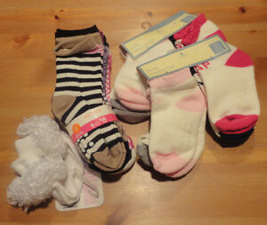 BABY GIRL SOCK LOT!!! New ---- BABY GAP, JOE FRESH, MINICCIGIRL