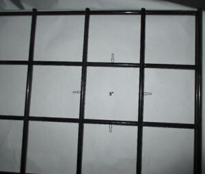 """Black wire slat gridwall pane W.24""""xH.97""""! Only 8 pieces left!"""