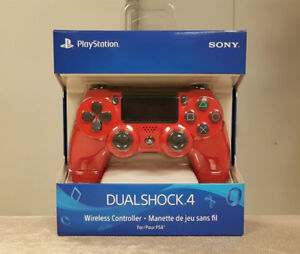 Red Sony PS4 Controller