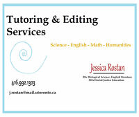 Tutoring & Editing from a UofT Educator