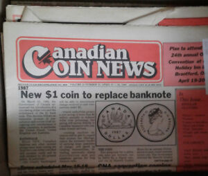 Canadian coin magazines/papers from the 80's