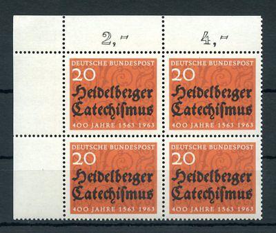 BUND Nr.396f1+f2 ** ECKRAND-Viererblock PLATTENFEHLER EURO 135,-+ (112114)