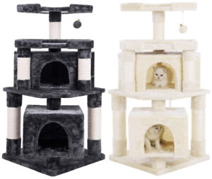 "Brand New: 43"" Cat Tree for Larger Cats, Gray or Beige"