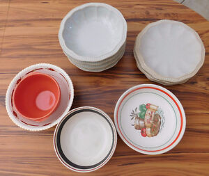 16 Assorted Plates and Bowls