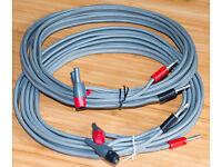 Linn K20 speaker cable pair - each 3.00m long - RCA plug to BFA plug