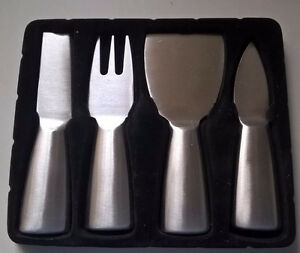Stainless Steel Server Knives Cheese Knife Set 4