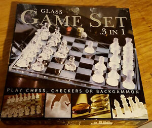 Glass Game Set 3-in-1