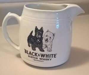 Black and White Whiskey Buchanan's Water Jug/ Pitcher