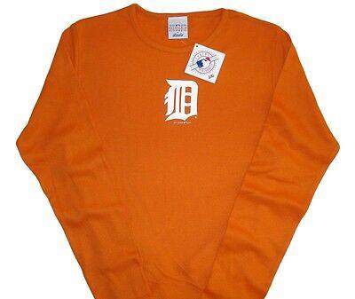 Detroit Tigers Mlb Game Time Slugger Long Sleeve Shirt Womens Sizes  Orange Nwt