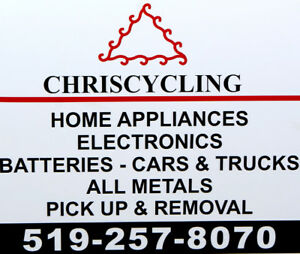 OLD APPLIANCE REMOVAL!!! CALL CHRISCYCLING NOW 519-257-8070