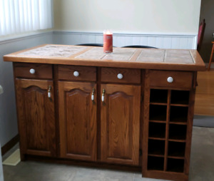 Solid Oak Kitchen Island