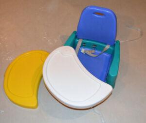 Siège/banc rehausseur (turquoise-blanc-jaune-blanc)