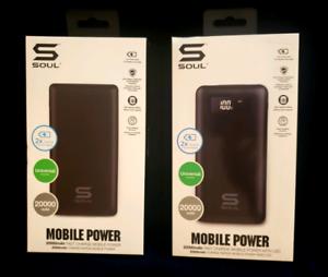NEW , 20,000 mAh Battery Packs, $30 Each.