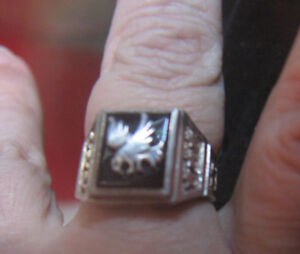 UNISEX BLACK ONYX EAGLE RING (FATHER'S DAY GIFT)
