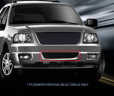 Black Bumper Vertical Billet Grille Grill  For 03 04 05 06 Ford Expedition