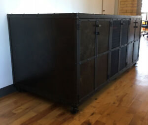 3-Compartment Cabinet - Steel - 7ft W x 3ft D x 3ft H