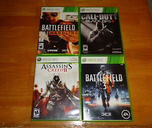 set of 4 xbox games