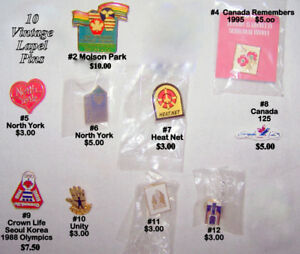 Vintage lapel PINS, butterfly catch, excellent like new $3-$10.0