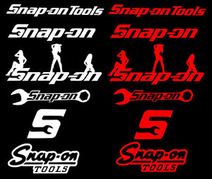 Snap on decals toolbox , truck , beer fridge etc