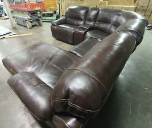 Faux Leather Theater Style Sectional $400 Obo