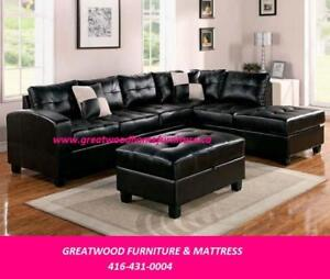 BLACK FRIDAY BEGINS...SECTIONAL SOFA WITH FREE STORAGE OTTOMAN...$699