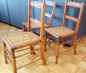 Antique cane dining chairs (5 chairs)