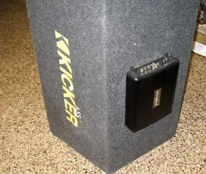"""PowerBass Amp and Ass Kicker two 10"""" subwoofers"""