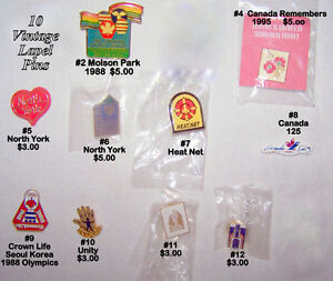 Vintage lapel PINS, butterfly catch, excellent like new $3-$7.50