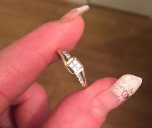 Beautiful .2 Carat, White&Yellow gold, princess cut engagement