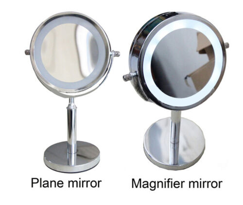 led lighted makeup cosmetic mirror 6 portable travel vanity 1 5x magnifying ebay. Black Bedroom Furniture Sets. Home Design Ideas
