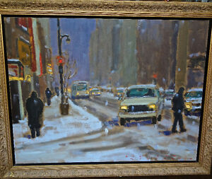 Richard Montpetit Dans la tempête painting oil on canvas Quebec
