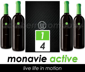 Monavie Active - 1 Case / 4 Bottles - Freshest Product on Ebay - Expires 11/2018