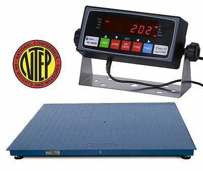 New Ntep 10000 Lb 2 Lb 2 X 3 Floor Scale W Legal For Trade Indicator