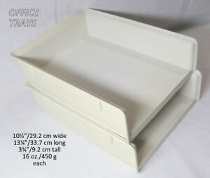 Office trays, open front, stackable, durable hard plastic
