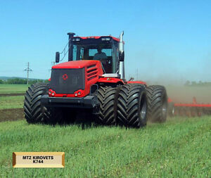 MTZ KIROVETS K744 DEMONSTRATION IN HAWKESBURY,ON