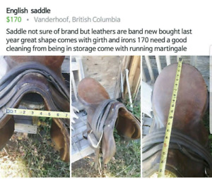 English saddle package deal