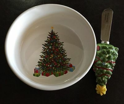 Christmas Tree Martha Stewart Collection Holiday Red Ribbon 2-Piece Dip Mix Set