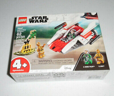 LEGO Star Wars Rebel A-Wing Starfighter 75247 62 Piece Building Set Toy Kit 2019