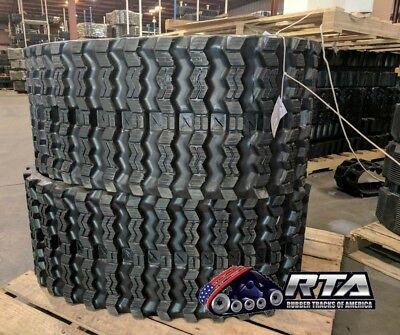Two Rubber Tracks For Takeuchi Tl12r2 Tl12 R2 450x86x60 Zig Zag Tread