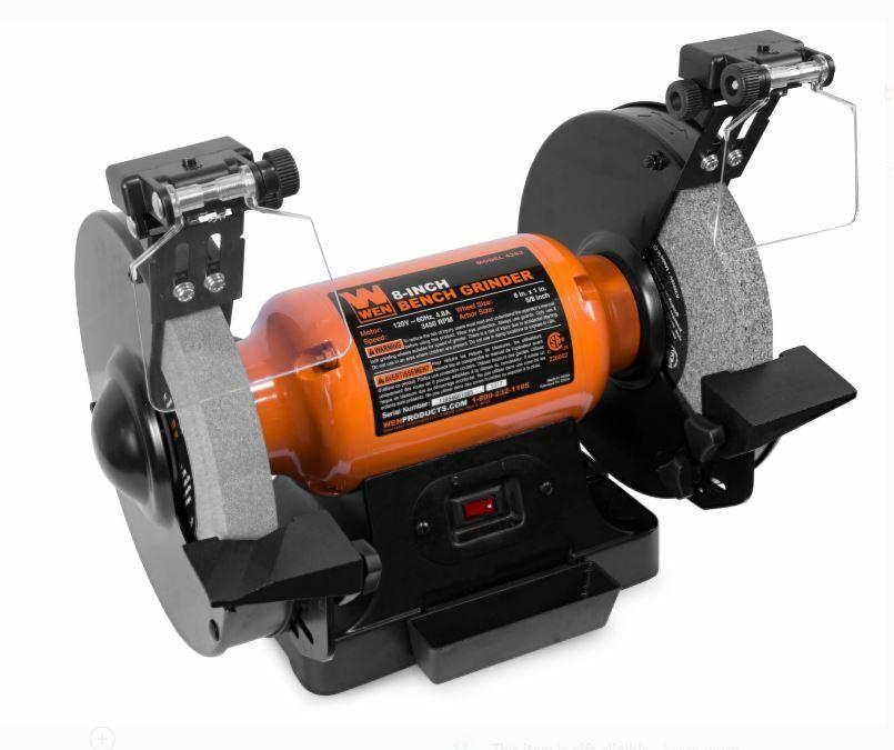 Wen 4282 4.8-Amp 8-Inch Bench Grinder with Led Work Lights a