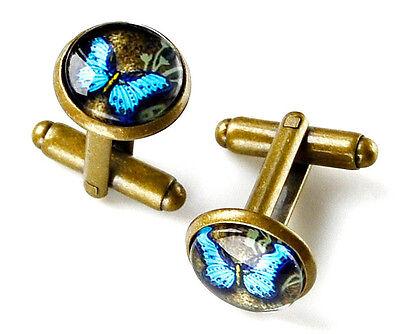 Butterfly Cufflinks - Men's Jewelry - Handmade - Gift Box Included