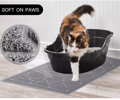 Cat Litter Mat Dog Bowl for Box Waterproof PVC Material Scatter Control...