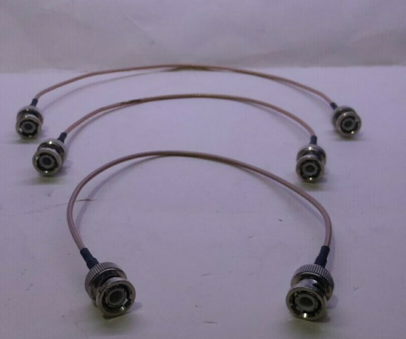 4 pcs NOS RF Test cable (BNC Male to BNC Male )