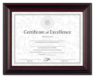 Document Diploma Certificate Rosewood Frame 8 1/2 x (Diploma Certificate Frames)
